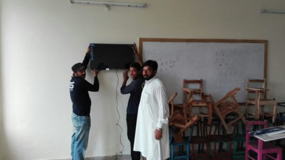 LCD screens installed for video lessons (3)