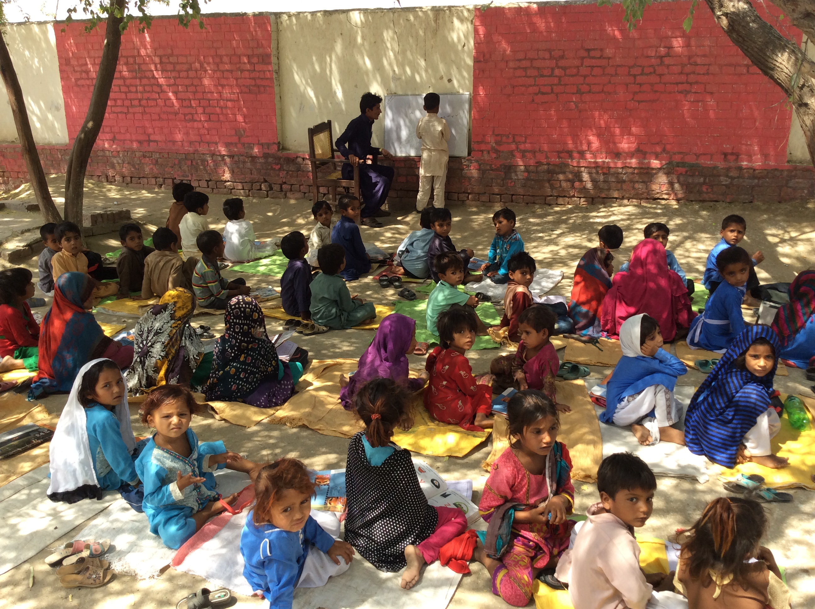 Toba Allayar Primary Facing the sun and heat outdoors